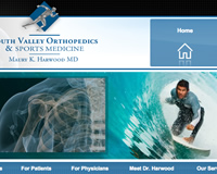 Orthopedics Sports Medicine Website Design